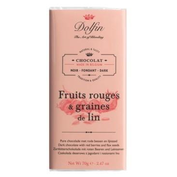 Dolfin - Zartbitter mit roten Beeren & Leinsamen