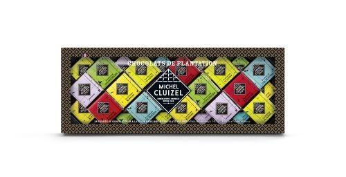 Michel Cluizel - Etui mit 28 Minitäfelchen der Plantagenschokoladen