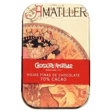 Amatller - Zartbitter Schokoladenblätter