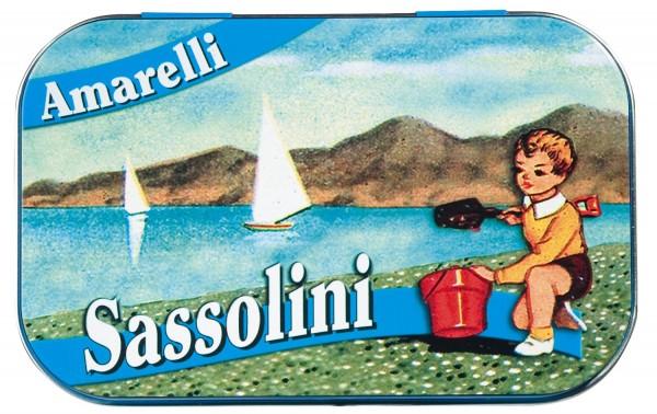 Amarelli - Lakritzdragees mit Minze in Kieslsteinform