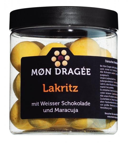 Mon Dragée - Lakritzdragees in weißer Schokolade und Passionsfrucht