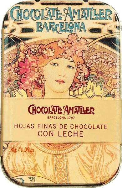 Amatller - Schokoladenblätter Vollmilch