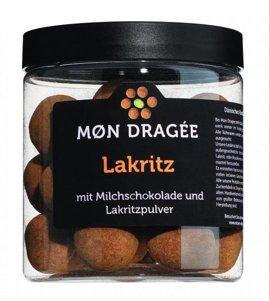Mon Dragée - Lakritzdragees mit Vollmilch und Lakritzpulver