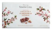 Simon Coll - Vollmilchschokolade 32% mit ganzen Mandeln