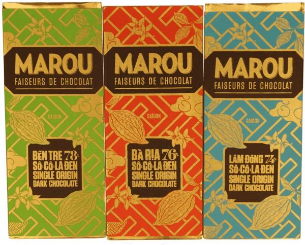 Marou - Geschenkset 3 Tafeln à 24g