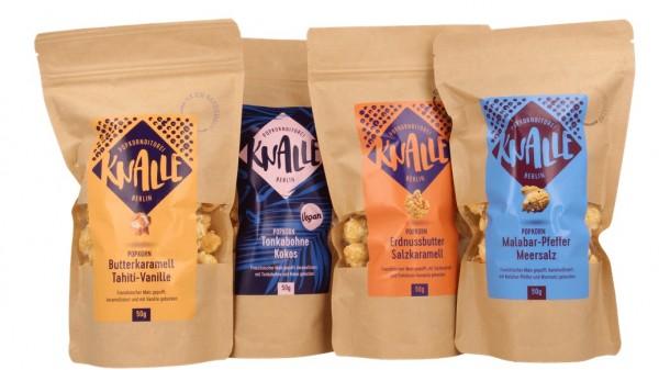 Knalle Popcorn - Set aus 4 verschiedenen Sorten